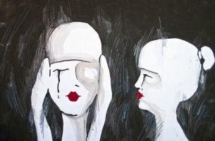 Weinende Frauen