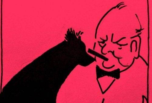 Churchill und der schwarze Hund