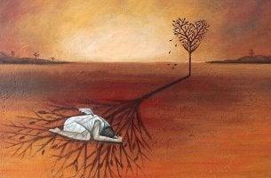 Liebe brauchen - Das führt oft dazu, sich mit weniger zufrieden zu geben, als man verdient. Wie es dieses Mädchen tut, das im Schatten der Liebe am Boden liegt.