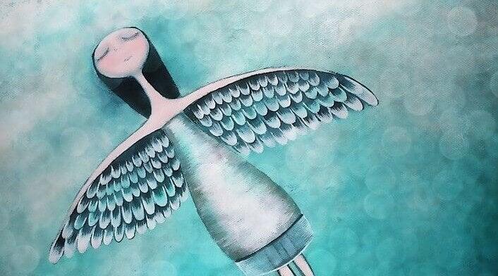 Mädchen mit Flügeln