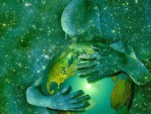 Die Welt umarmen