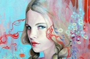 Komplexe loslassen - Gesicht einer Frau, die berechnend schaut