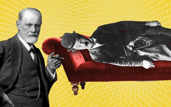 Sigmund Freud und Charles Chaplin