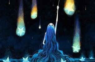 Sternenstaub - Mädchen greift nach den Sternen