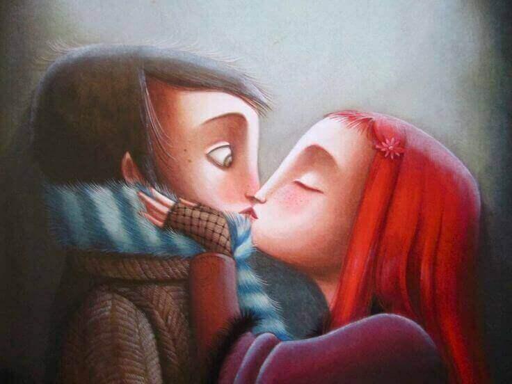 Ein bisschen mehr Ego - Mädchen küsst überraschten Jungen