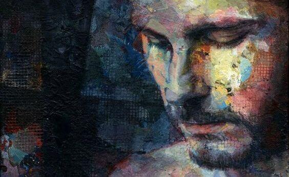 Dunkles Porträt eines Mannes