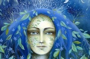 Die eigene Würde wahren - Frau mit blauem Haar