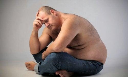 Fettleibiger Mann