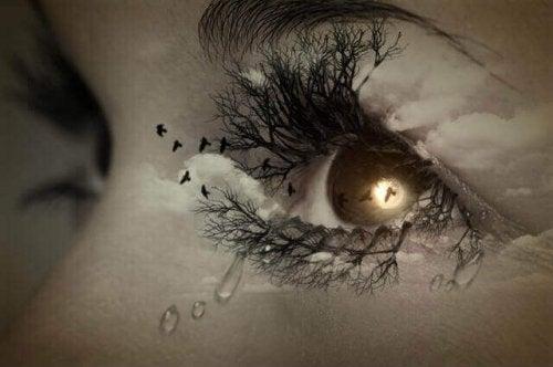 Trauernde Augen