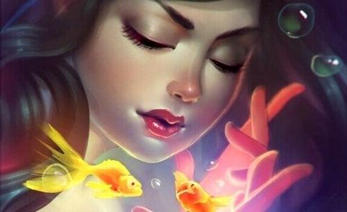 Schließe deine Augen und lass deine wunderschönen Gedanken Realität werden