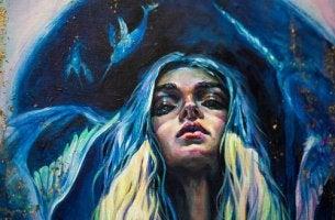 Die Kraft weiterzumachen finden - Mädchen mit blauem Haar