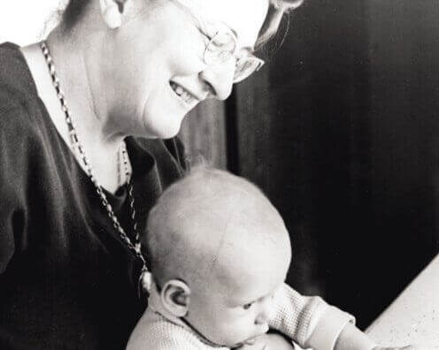 Mary Ainsworth mit Baby