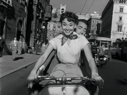 Audrey Hepburn im Urlaub in Rom