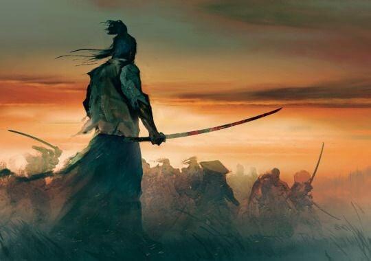 Samurai im Kampf