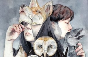 Arten von falschen Freunden - Menschen unter Masken