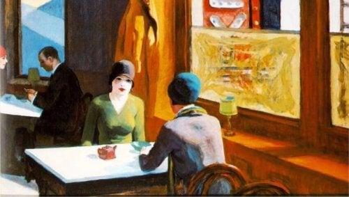 Chop Suey - Gemälde von Edward Hopper