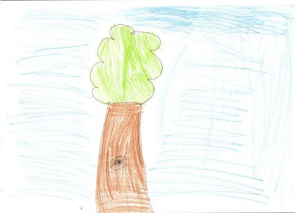 Gezeichneter Baum mit Auge
