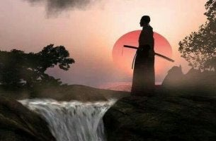 Weg des Kriegers - Samurai vor untergehender Sonne