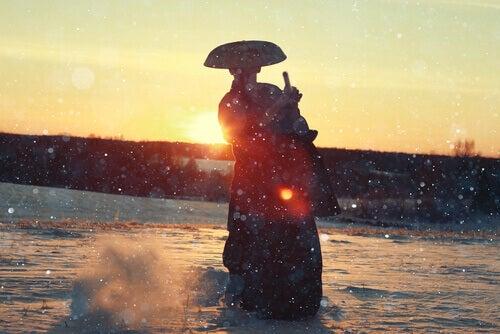 Samurai bei Sonnenaufgang