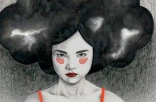 Toxische Person - Frau mit Gewitter im Haar