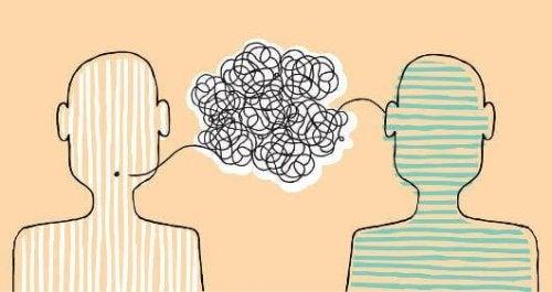 Kommunikation zweier Menschen