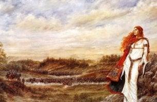 Keltische Sprichwörter sind Teil der keltischen Kultur - keltische Frau mit langen Haaren