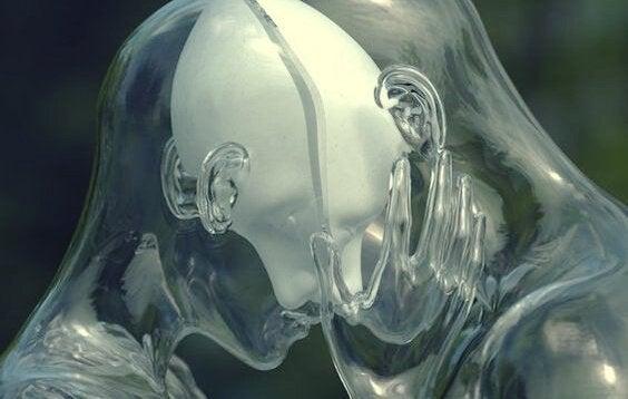 Paar aus Glas