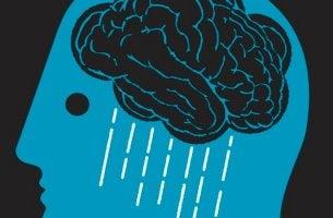 Träume von Menschen mit Depressionen - Gehirn als dunkle Regenwolke