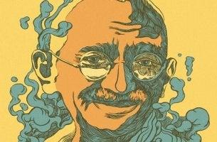 Zitate von Gandhi - Illustration von Mahatma Gandhi