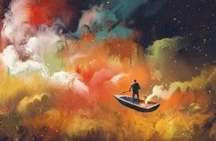 Ich möchte jeden Tag etwas, das mir Angst macht tun. - Mann durchquert das Universum im Boot.