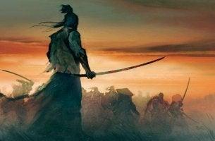 Zitate von den Samurai - Samurai vor einem Schlachtfeld