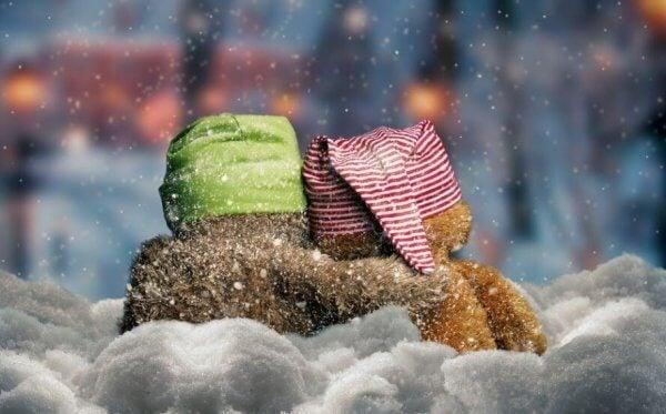 Teddys im Schnee