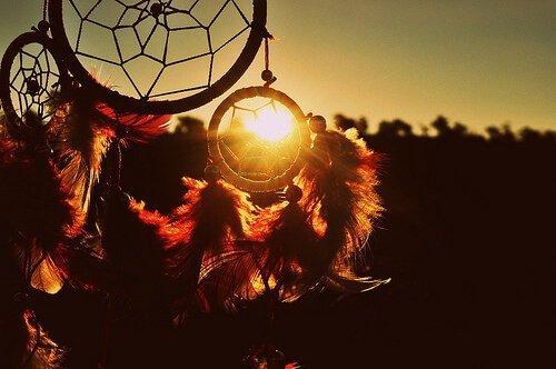 Traumfänger gegen Sonnenlicht