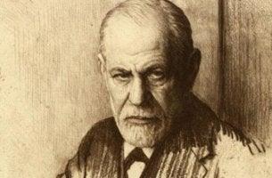 Sigmund Freud und die Libido - Portrait von Sigmund Freud, in schwarz-weiß gezeichnet.