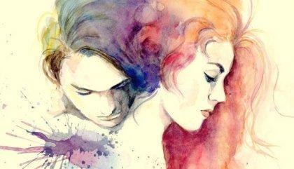 Paar in bunten Farben