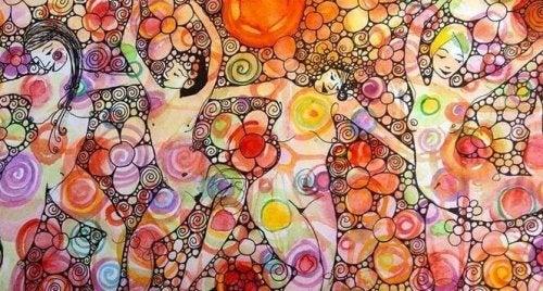 Malerei mit nackten Frauen