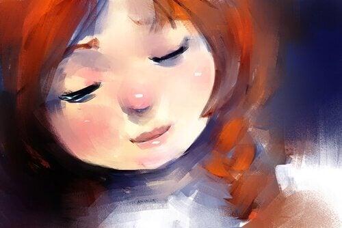 Gesicht eines Mädchens