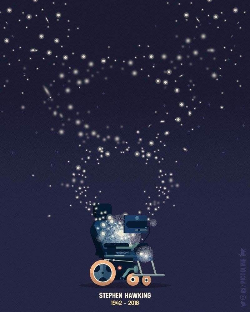 Der Rollstuhl von Stephen Hawking