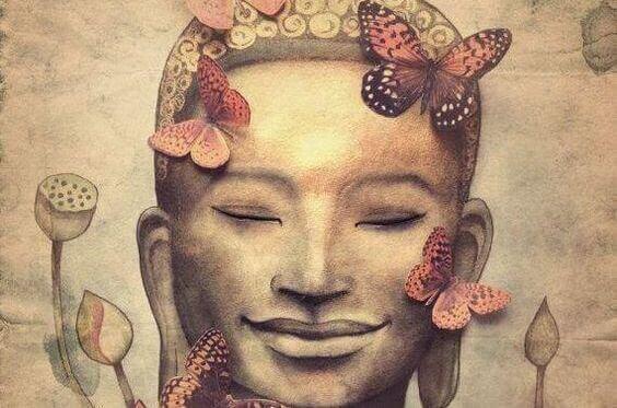 Buddha mit Schmetterlingen