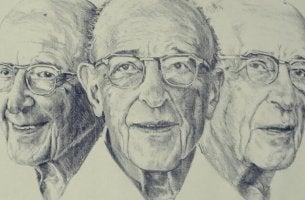 Zitate von Carl Rogers - Zeichnung von Carl Rogers
