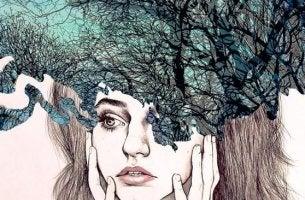 Psychohygiene - Frau mit blockiertem Verstand