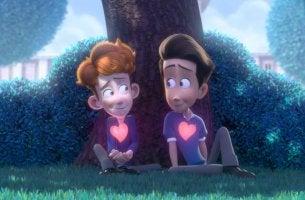 "Film über zwei verliebte Jungs - Szene aus ""In a Heartbeat"""