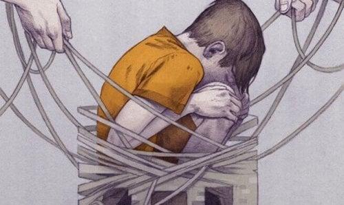 Ein Kind gefangen im Netz der Gewalt