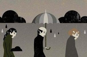 Symptome einer Depression - traurige Realität