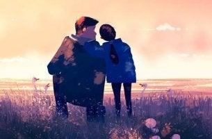 Richtig verlieren - Vater und Tochter schauen auf's Feld