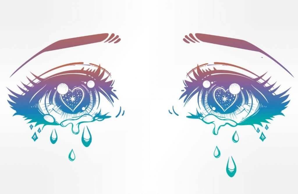 Weinende Augen