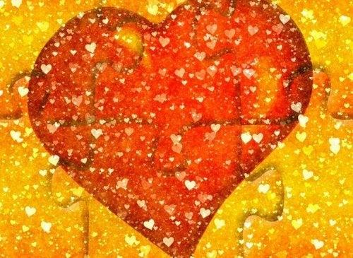 Puzzle mit einem Herz