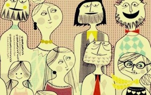 Zeichnung einer Familie
