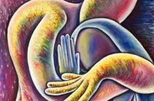 Therapie des Mitgefühls - zwei Figuren, die sich umarmen