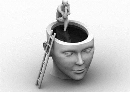 Mensch im Kopf eines anderen